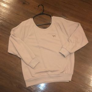 Victoria Secret PINK OFF-the-shoulder Sweatshirt